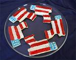 Goody Guns Flag Cookies