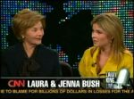 Laura and Jenna Bush